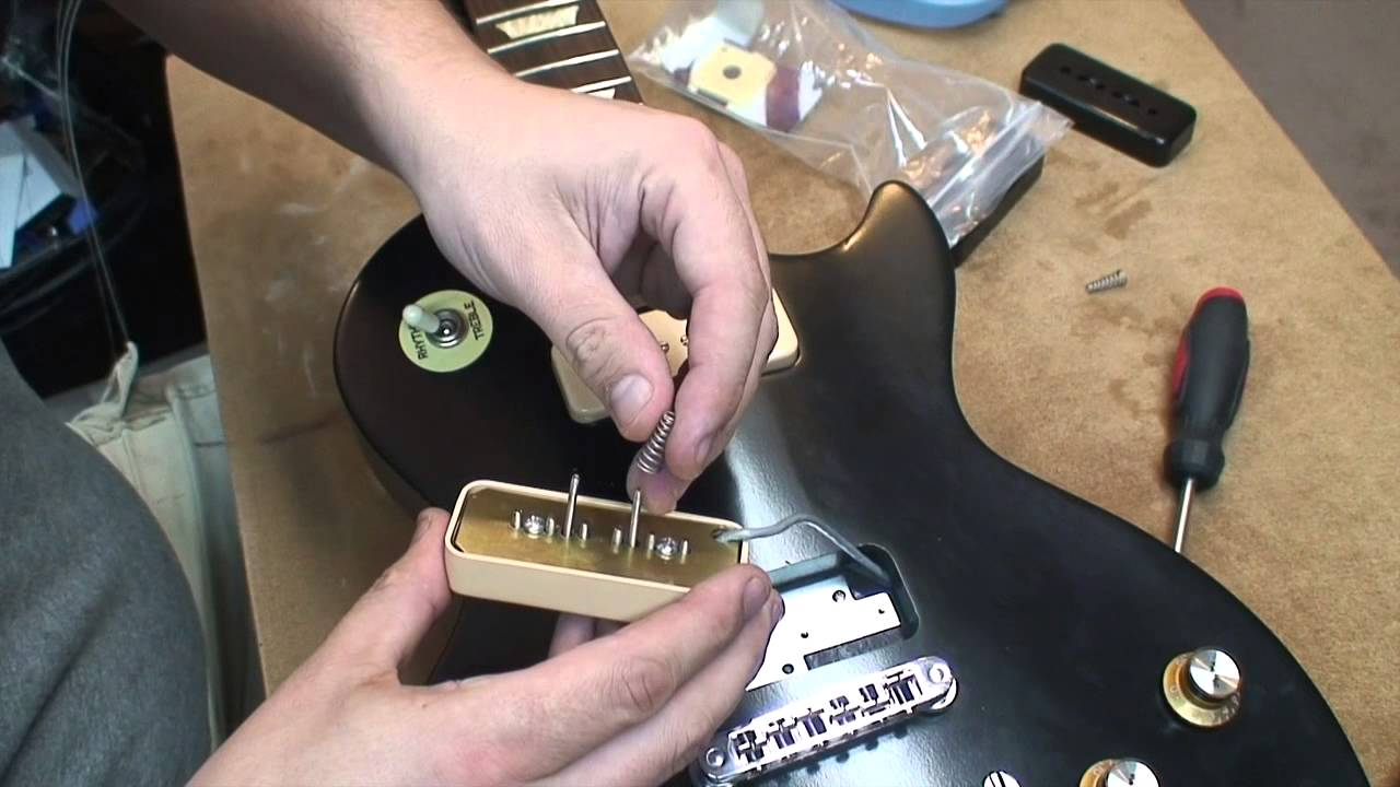 How to change P90 Pickup Covers on a Les Paul - YouTube