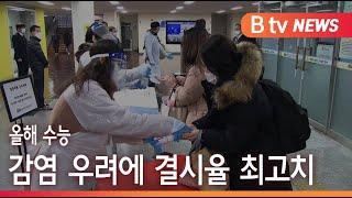 [부산]올해 수능 감염 우려에 결시율 최고치