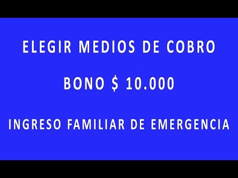 Elegir el medio de cobro del bono de $10.000 - Anses from YouTube · Duration:  3 minutes 50 seconds