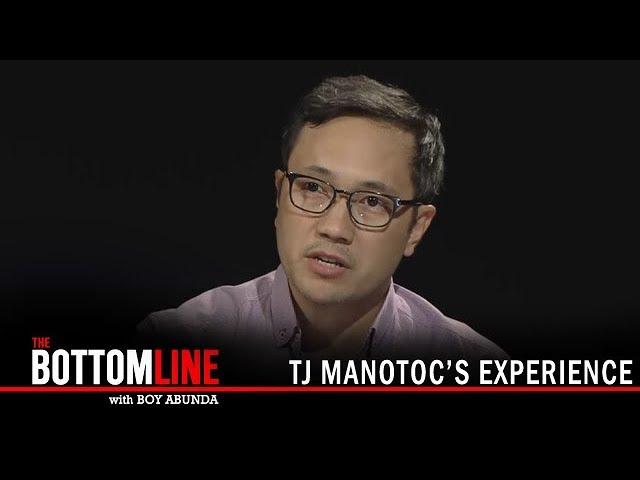 The Bottomline: TJ Manotoc's experience