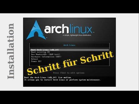💾 teilweise veraltet 💾 ARCH LINUX INSTALLATION - Schritt für Schritt -  Deutsche Anleitung