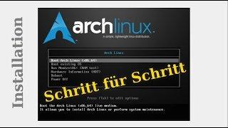 ARCH LINUX INSTALLATION - Schritt für Schritt - Deutsche Anleitung