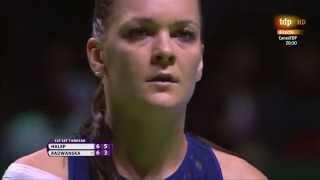 Radwanska-Halep tiebreak last points WTA finals 2015 Singapore