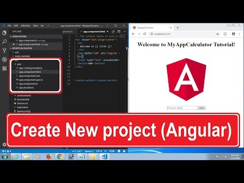 Angular Tutorial Step By Step. Create New Project in Angular CLI Command thumbnail