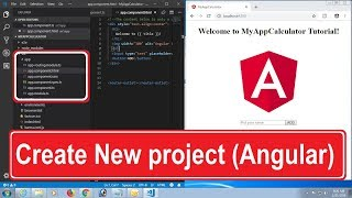 Angular Tutorial Step By Step. Create New Project in Angular CLI Command