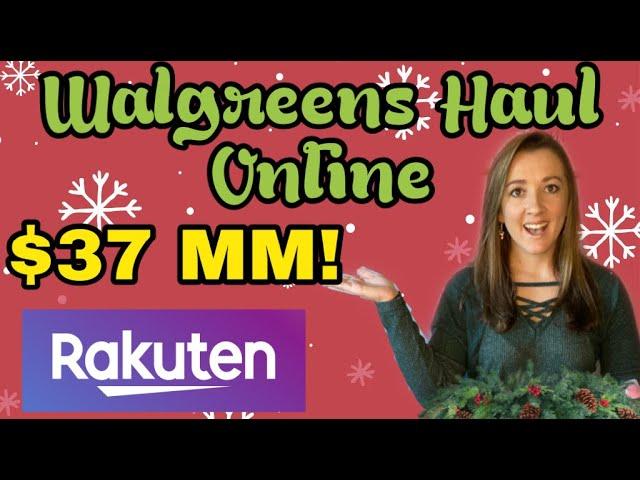 Walgreens Online Haul with Rakuten!