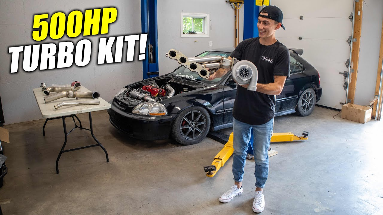 K20 Civic gets BIG Turbo + Sidewinder Kit Upgrade!