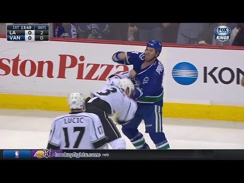 Brayden McNabb vs Brandon Prust Dec 28, 2015