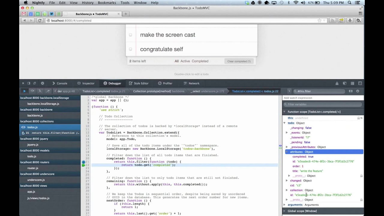 Firefox developer tools features - Blackboxing