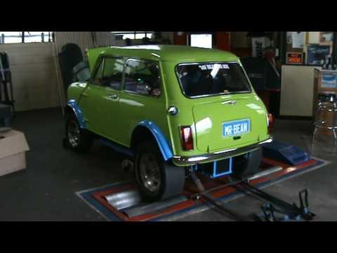 Mr Bean The V8 Mini Cooper On The Dyno Youtube