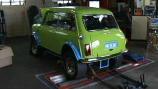 Mr Bean The V8 Mini Cooper on the dyno..