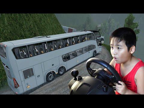Bé Dương lái xe ETS2 gường nằm 2 tầng chở khách đi du lịch