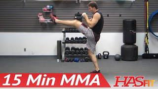 UFC TRAINING MMA WORKOUT - 15 Min MMA Training Conditioning w/ PRO Fight Coach Kozak