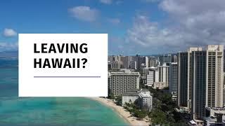 【JNR Global Logistics】 Leaving Hawaii ?