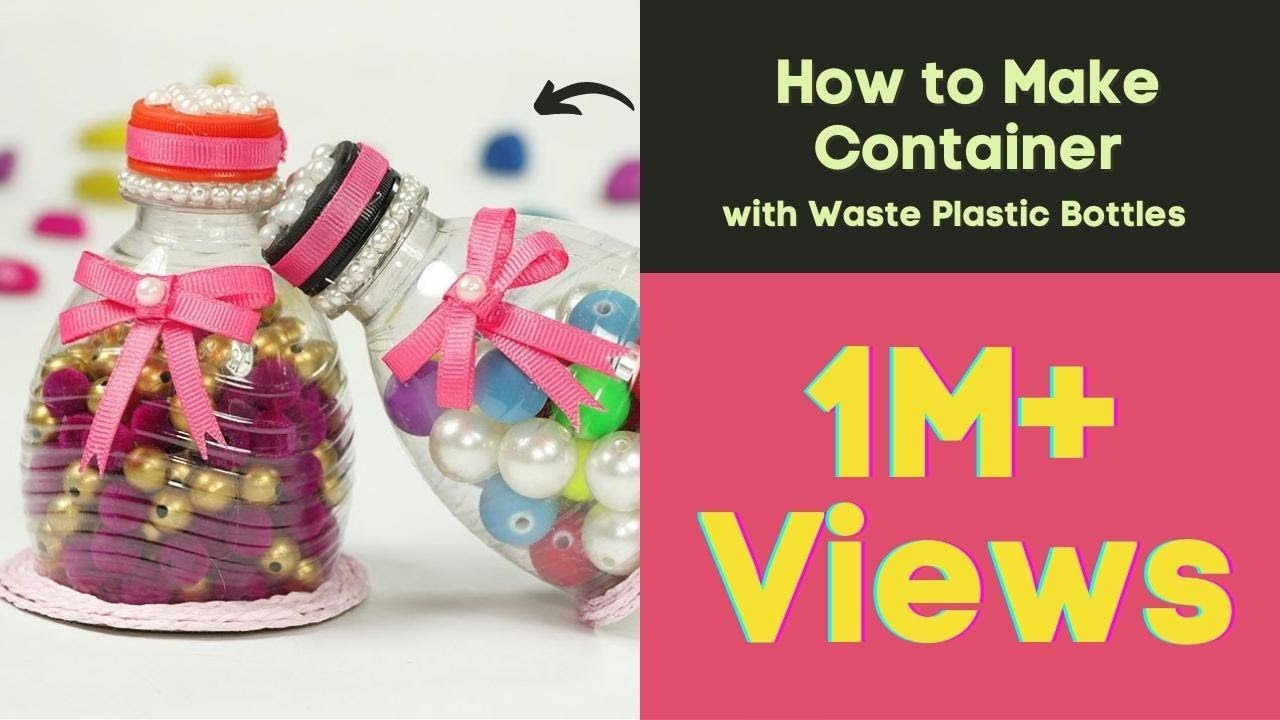 Plastic Bottle Craft Recycling Ideas How To Make Con