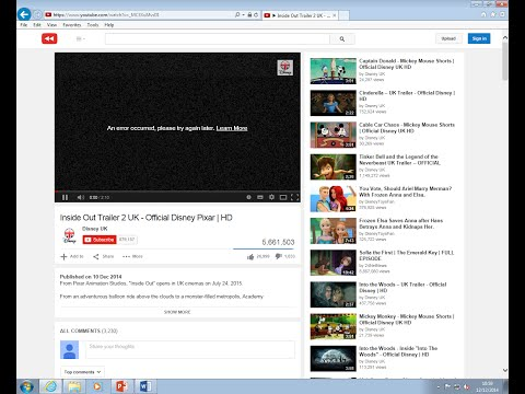 [Solved]  An error occurred, please try again later - Internet Explorer cannot play youtube videos