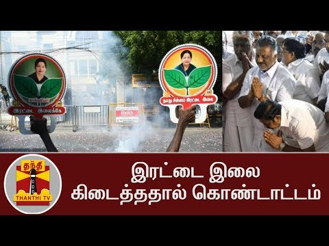Celebrations after Winning Two Leaves Symbol | Thanthi TV
