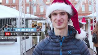 Adam Ondra Live Stream Chat Invitation - 17 December 2019