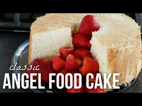 Classic Angel Food Cake!! How to Make Angelfood Cake Recipe