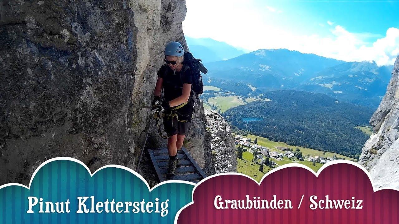 Klettersteig Graubünden : Pinut klettersteig graubünden schweiz youtube