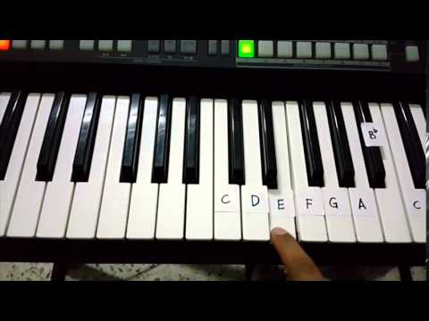Jehovah Is Your Name Song 138  Beginners Tutorial for piano Right Hand