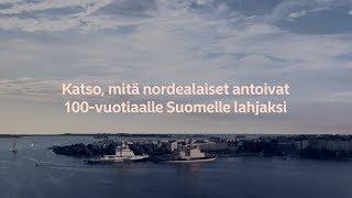 Onnittelukortti 100-vuotiaalle Suomelle | Nordea Pankki