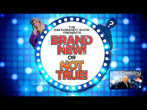 'Brand New or Not True' with returning guest John Gambling