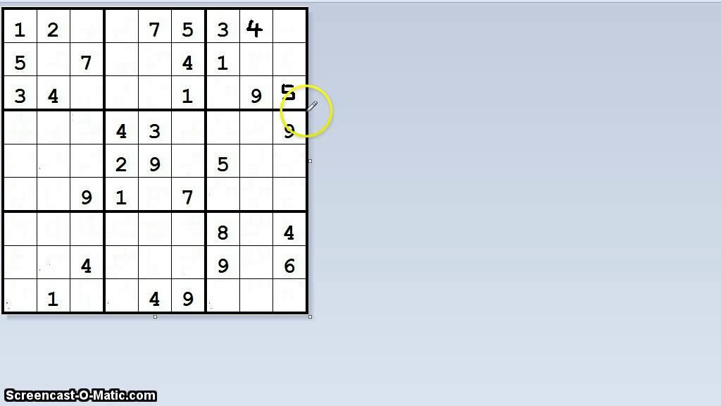 Sudoku mit einfacher Methode lösen - YouTube