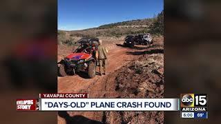 Plane wreckage, body found in rural eastern Yavapai County