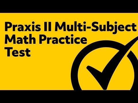 Free Praxis II (5169) Middle School Math Practice Test