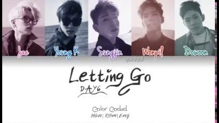 DAY6 - Letting Go Instrumental + Lyrics KARAOKE (with BG Vocals Color Coded Hang/Rom/Eng) (놓아 놓아 놓아)