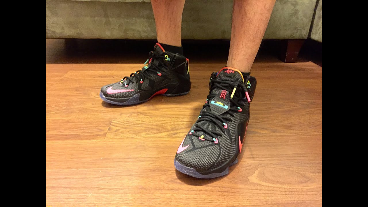 buy online feaad 6525f Lebron 12 Data unboxing w on feet and multiple looks