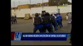 Policía capacita a serenos y fiscalizadores de la MML