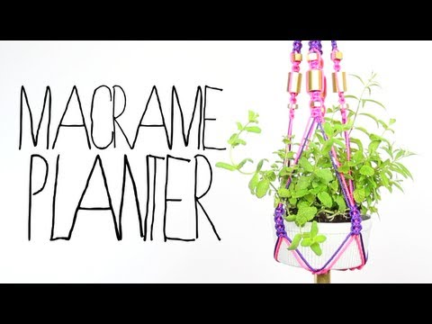 DIY Macrame Planter - Threadbanger