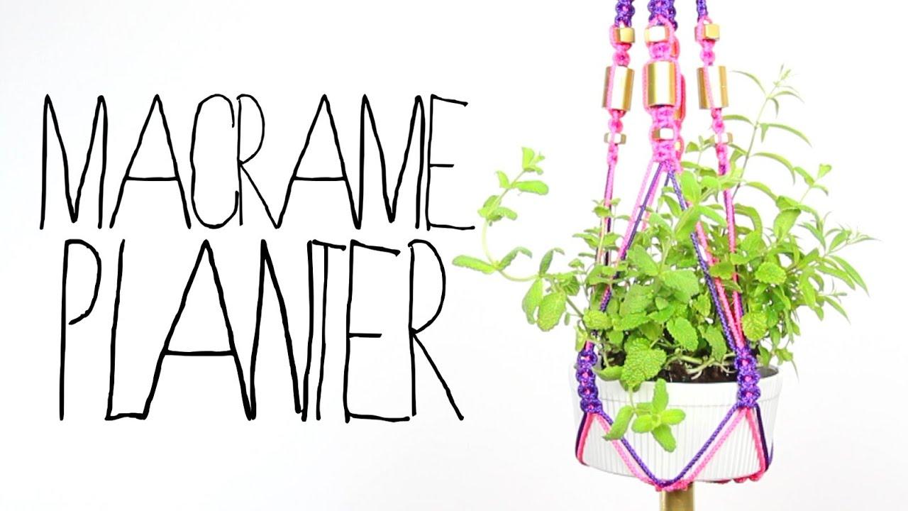 DIY Macrame Planter - Threadbanger - YouTube