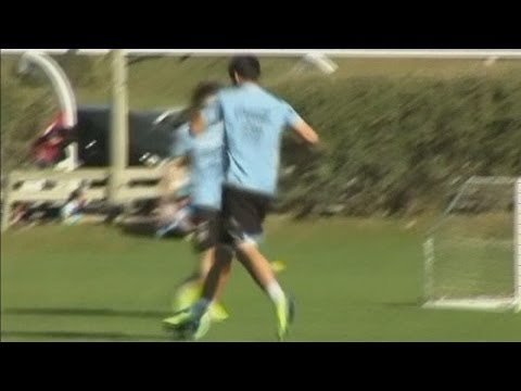 Luis Suarez's video message to fans after Uruguay beat England