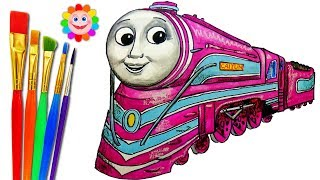 How to DRAW Train Thomas and Friends TRAINS Video for KIDS Coloring Pages CAITLIN