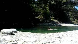 Wakamarina River swimming hole near Havelock New Zealand 2009