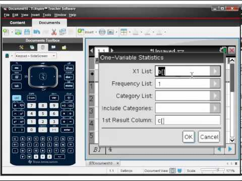 How to Use TI-nspire to Calculate Mean, Standard Deviation etc