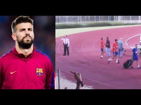 Gerard Pique was booed and jeered during training with the Spanish National Team