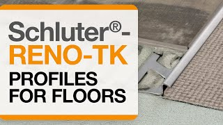 How to install a tile transition on floors: Schluter®-RENO-TK profile