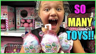 Toy Shopping At Walmart For Lol Surprise Dolls House, Pikmi Pops Pikmi Flips