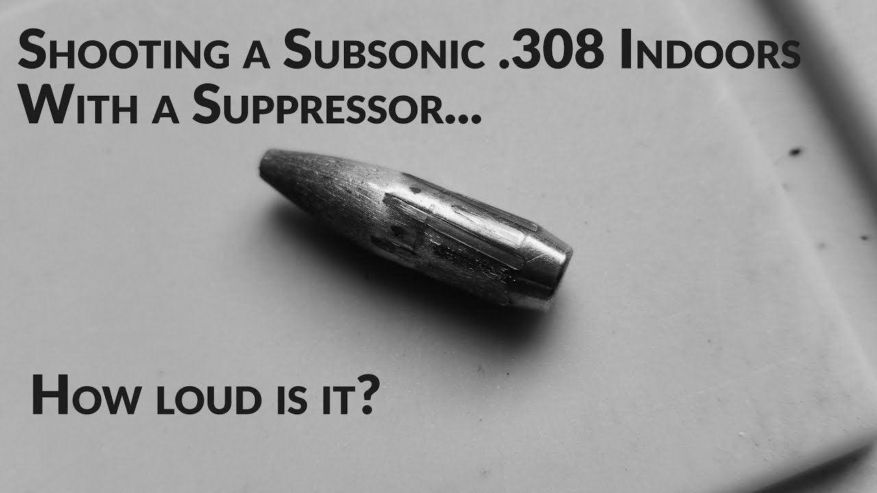 Testing a 308 Subsonic load
