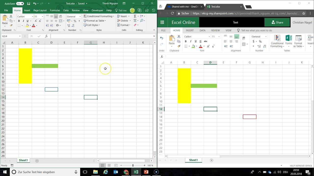 Nhiều người làm việc cùng lúc trên cùng file Excel trong mạng LAN hoặc Internet