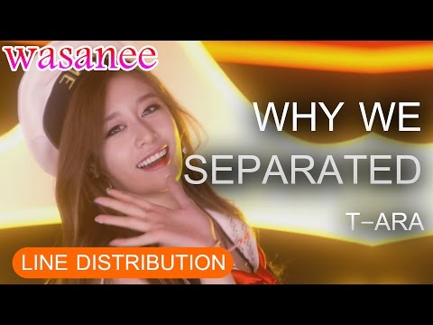 T-ARA - Why We Separated - Line Distribution (Color Coded Live)