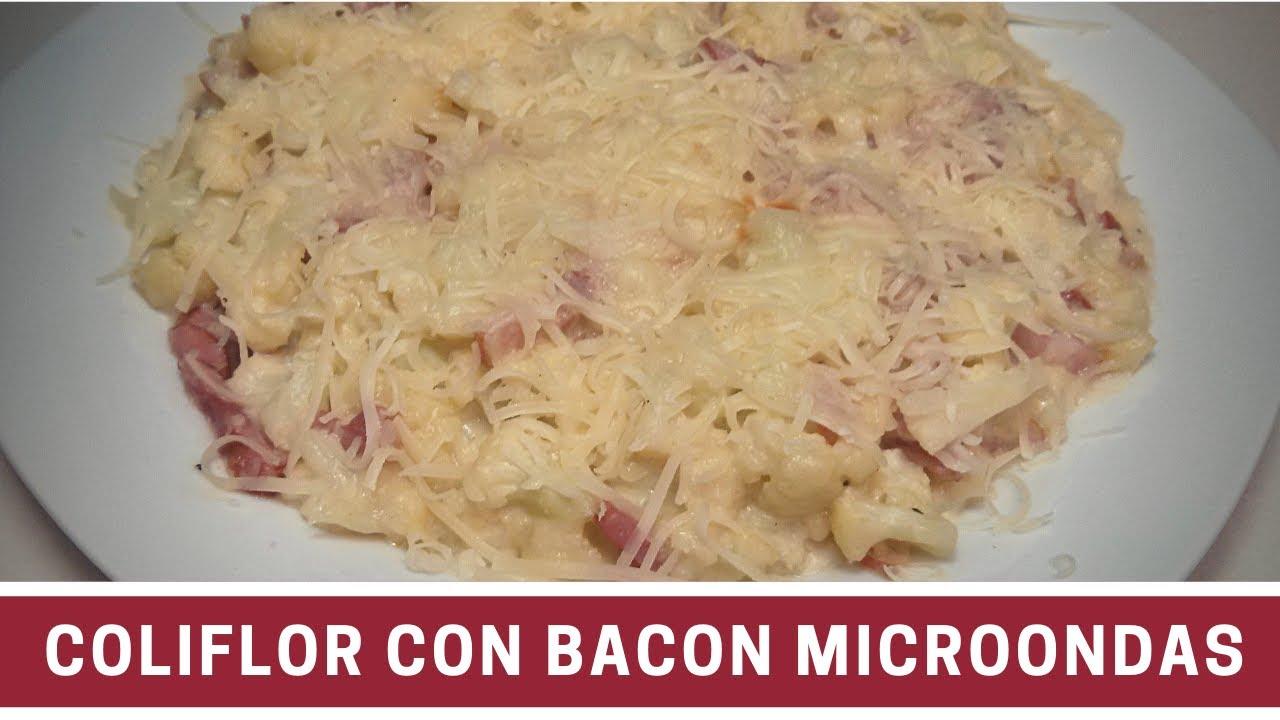 Coliflor gratinada con bacon al microondas cocinar en for Cocinar en microondas