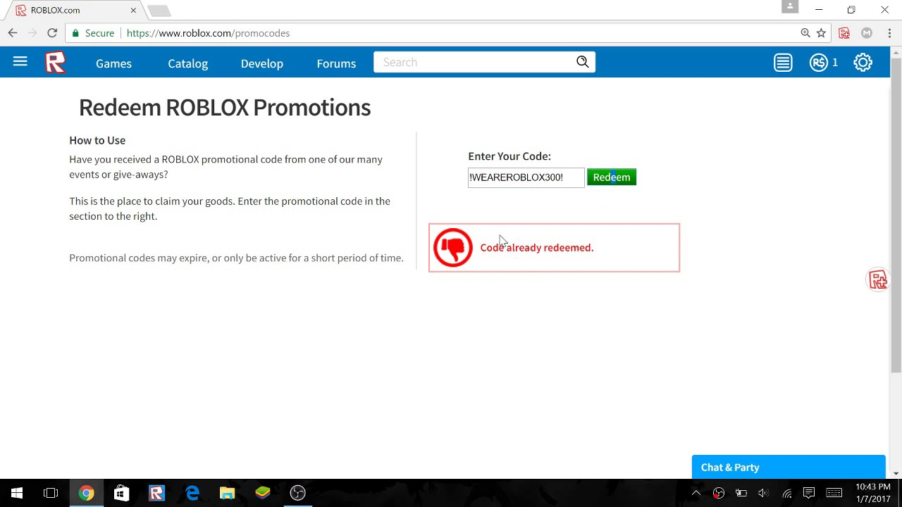 Roblox promo codes coupons