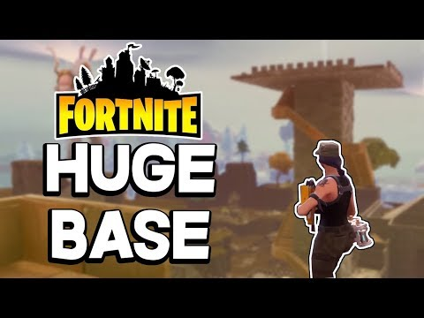MASSIVE HOME BASE! Subscriber Base Tour in Fortnite Save the World PVE Base Building 2018