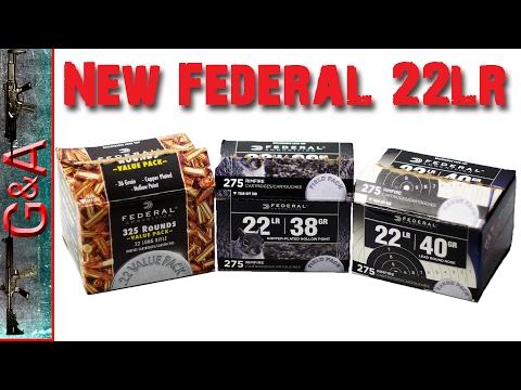 New Federal 22lr Ammunition Feb 2017
