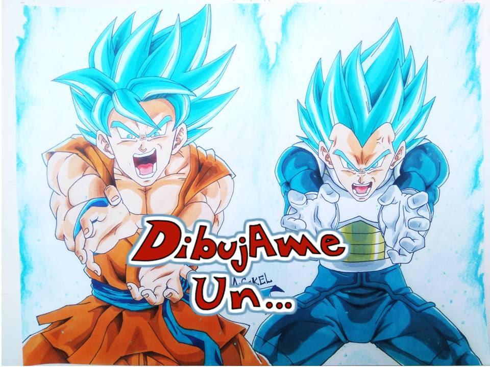 Como Dibujar A Goku Super Sayayin: Como Dibujar A GOKU Y VEGETA SUPER SAIYAN BLUE. HOW TO